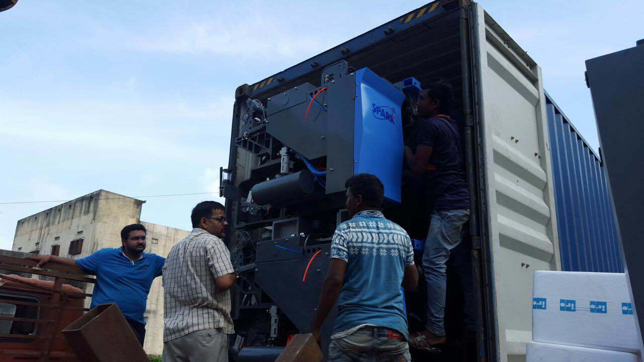 High Speed Cam Air Jet Loom Running in Surat