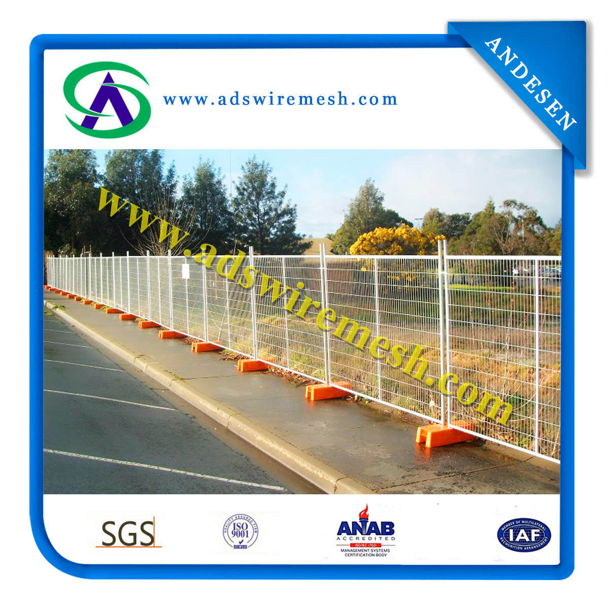 Austrlian&New Zeland Hot-Dipped Galvanized Temporary Fence