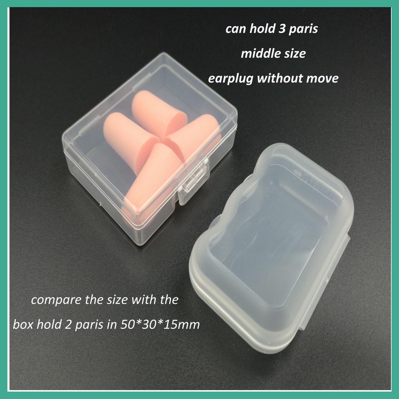 Small Earplug Packaging Box with 1 Pair 2 Paris or 3 Paris