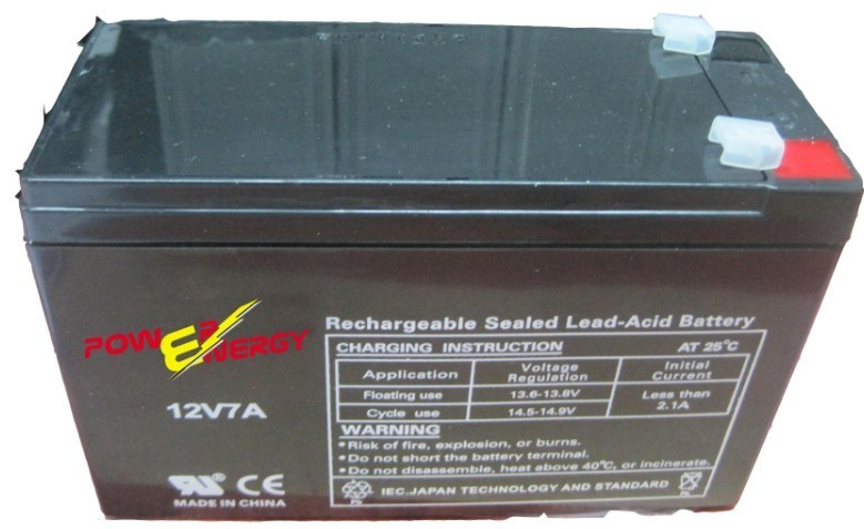 12V 7ah Sealed Lead Acid Maintenance Free UPS Solar Battery