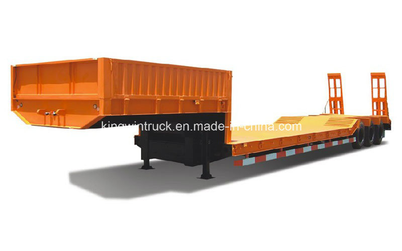 China Cimc Brand Low Bed Semi Trailer for Excavator