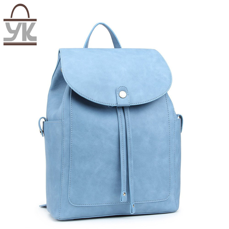 2017 New Style Fashion PU Leather Unisex Backpack