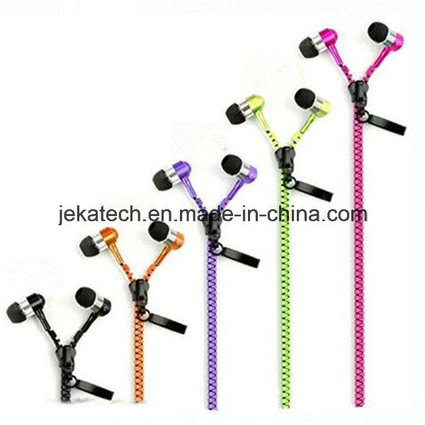 Factory Price Colorful Zipper Earphone