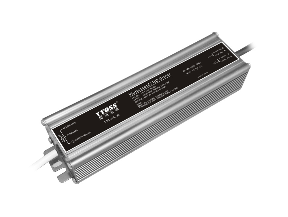 350mA-2100mA 60W 0-10V Waterproof Dimmable LED Driver (YSHC-60D)