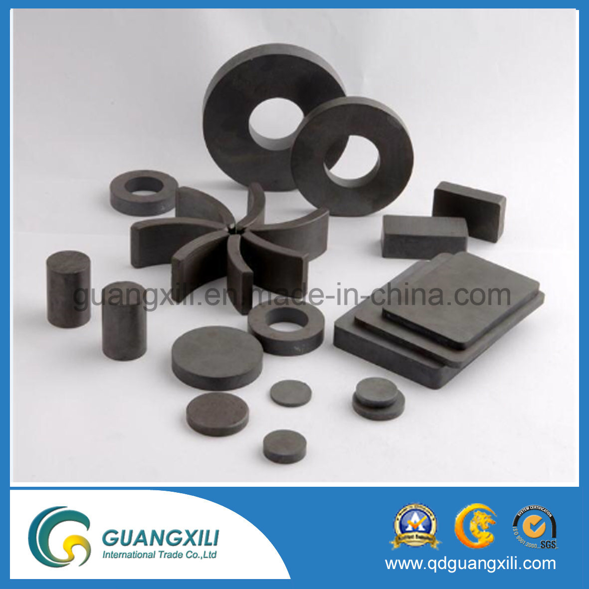 Y30bh Rare Earth Ferrite Magnet with ISO14001 Used for Wiper Motor