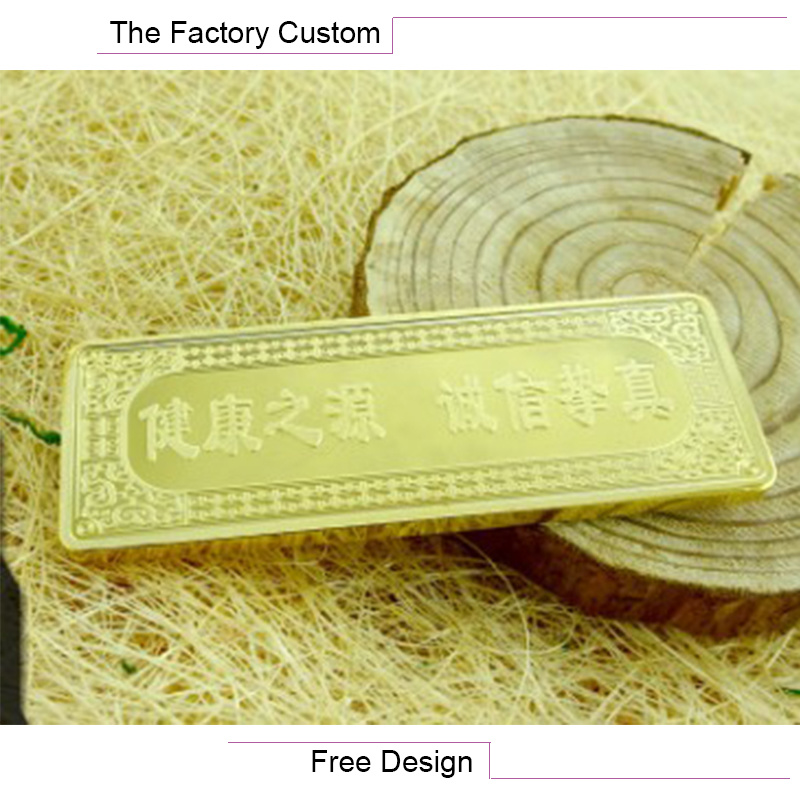 Promotion Gift Commemorative Gold Bars Customized