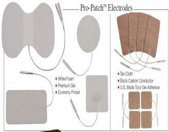 Electrode Pad for Tens Use with White Color Cloth