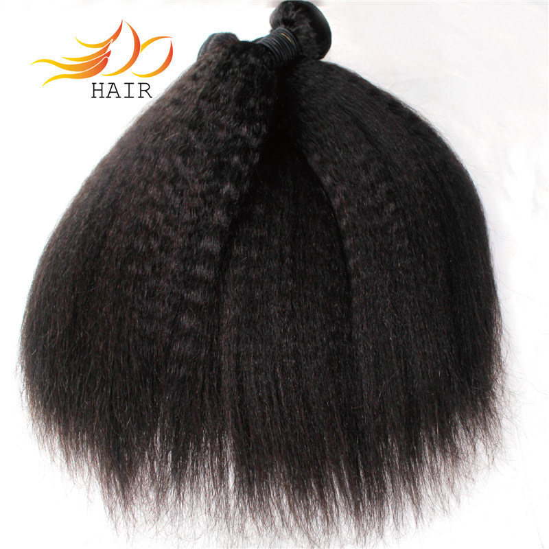 Kinky Straight 8A Grade Indian Virgin Human Hair Weft