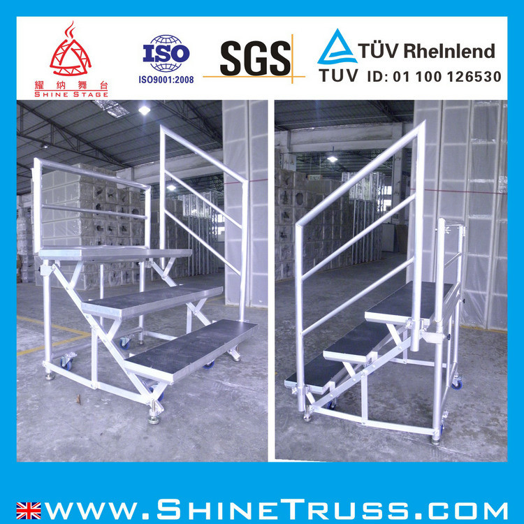 Aluminum Chorus Stage with 18mm Black Plywood