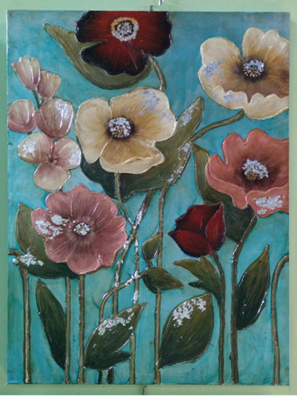 Modern Colorful Flower Oil Painting for Decor (LH-042000)