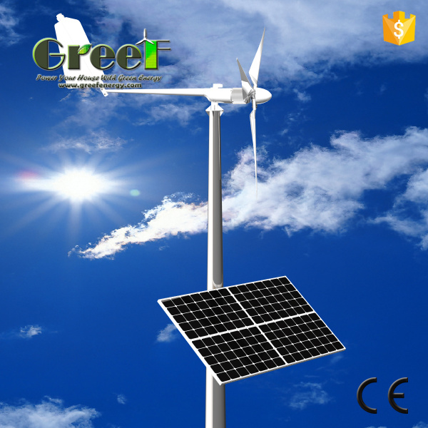 Solar and Wind Turbine Hybrid System