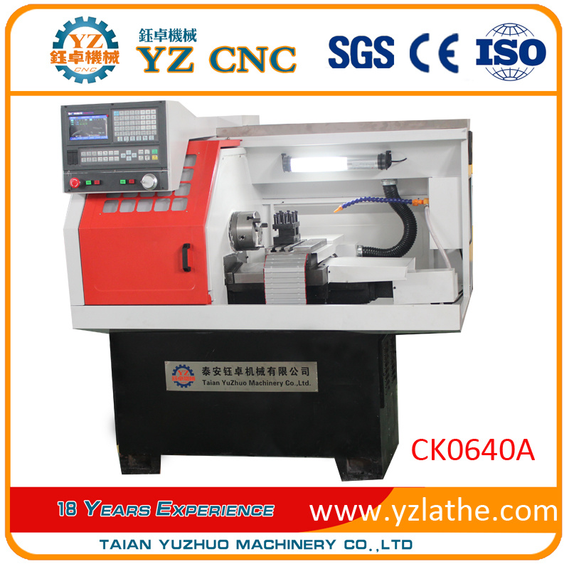 Machining Aluminum Machinery Parts Small Horizontal CNC Lathe