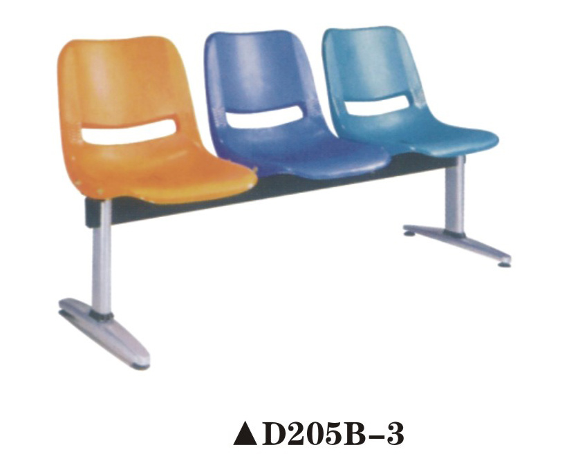 Hot Sale Hospital Waiting Bench Chair with Plastic Shell