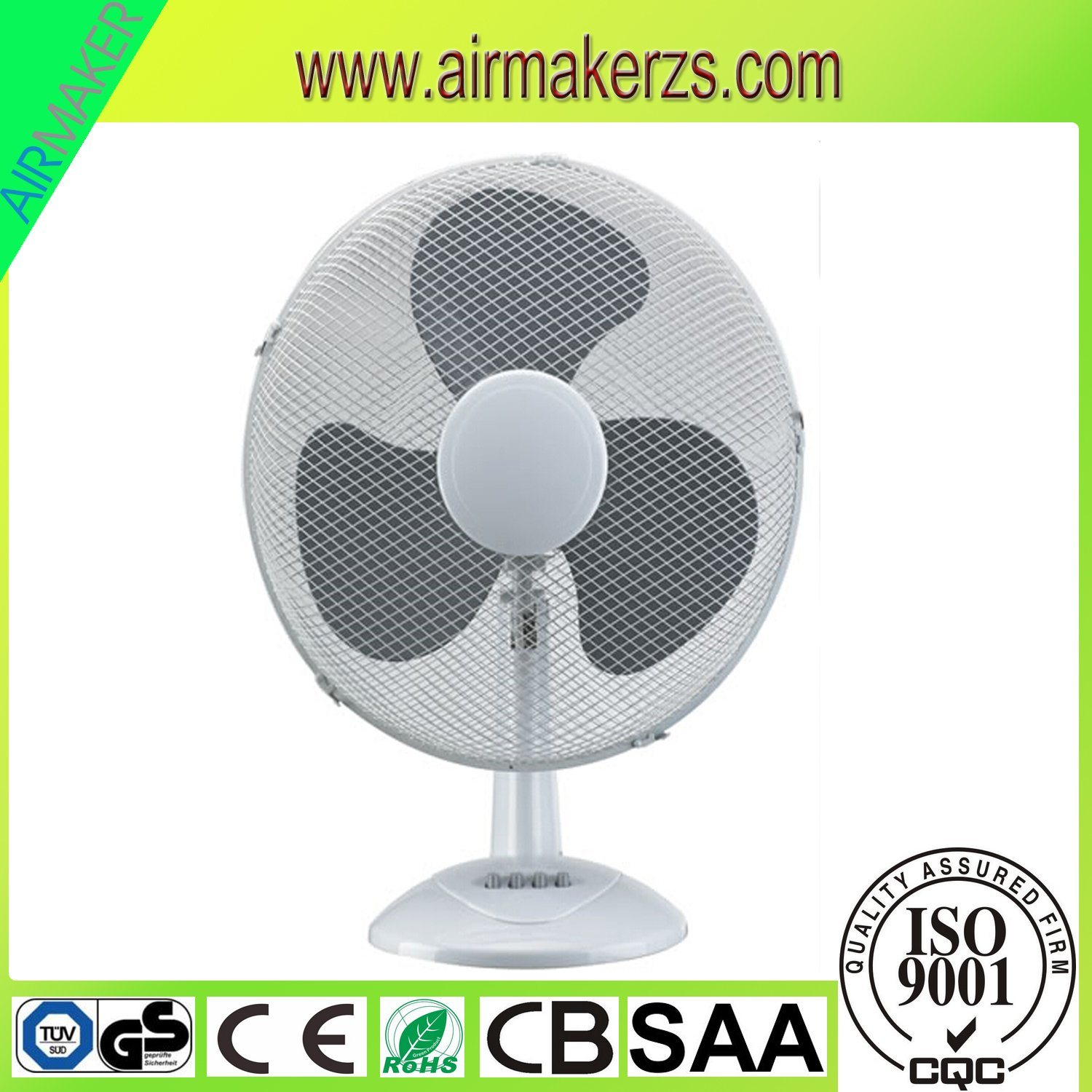 12 Inch Plastic Table Fan for Africa/Europe Market with GS/Ce/Rohs