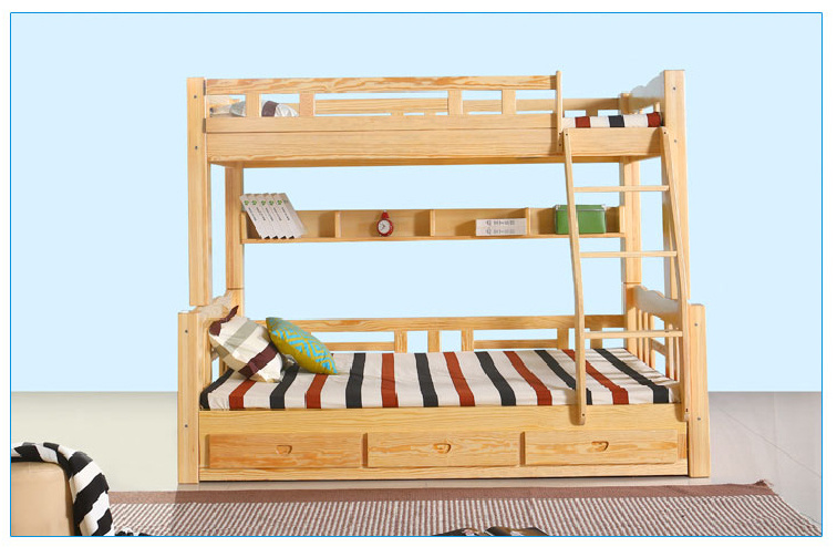Solid Wood Kids Bunk Bed Children Bunk Bed (M-X1032)