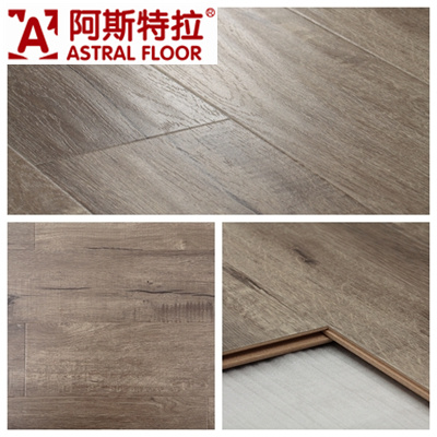 Waterproof with Wax 12mm Handscraped Grain Laminate Flooring (9102)