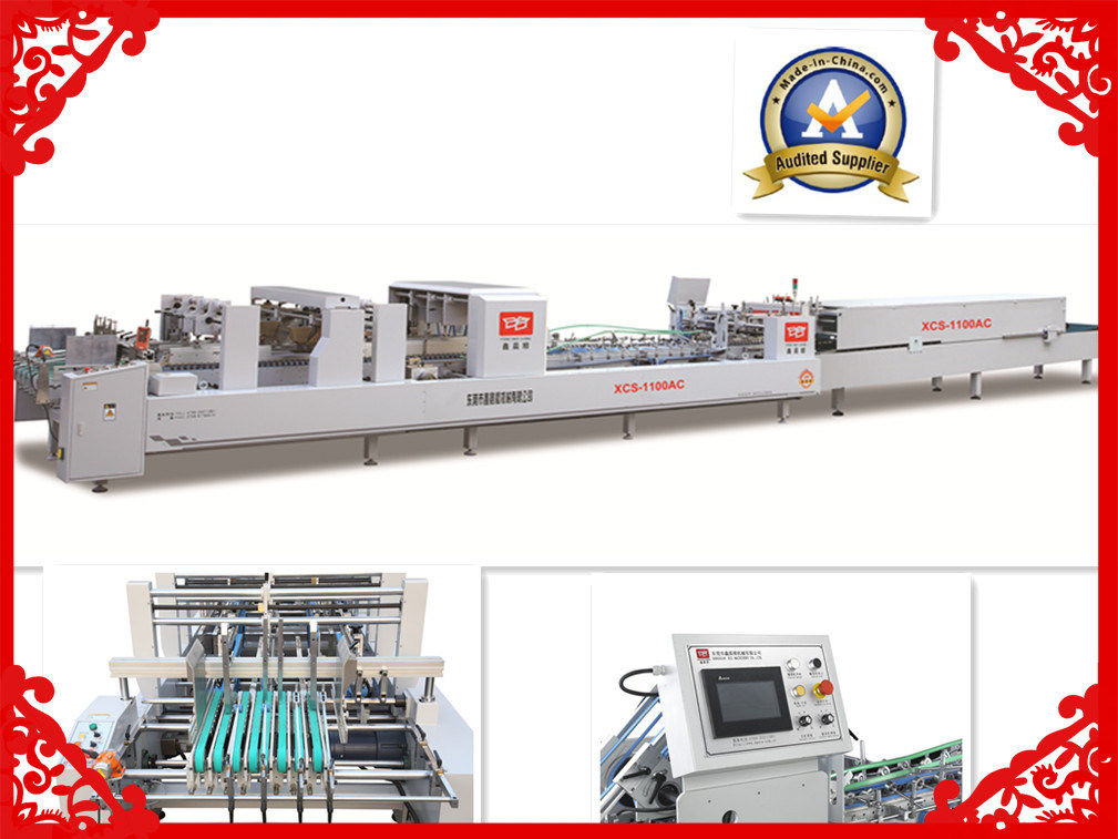 Xcs-1100PC Automatic Folder Gluer Machine for Corrugating Box