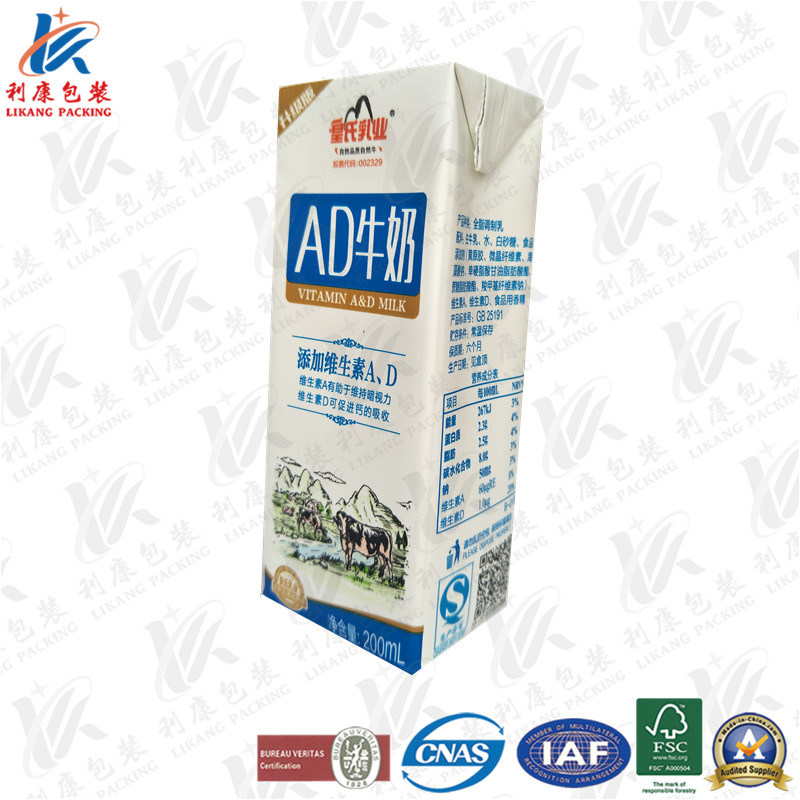 Laminated Paper Packaging for Milk and Juice
