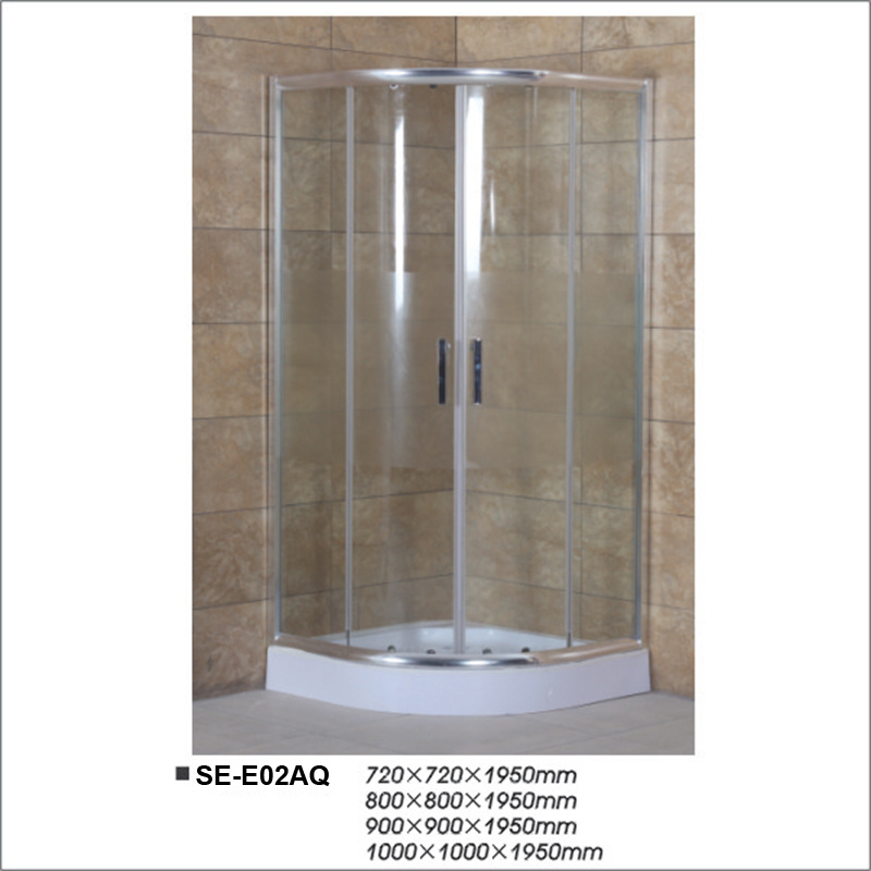 Hangzhou Corner Simple Tempered Glass Bathroom Simple Shower Room