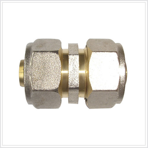 China double nipple brass pipe fitting