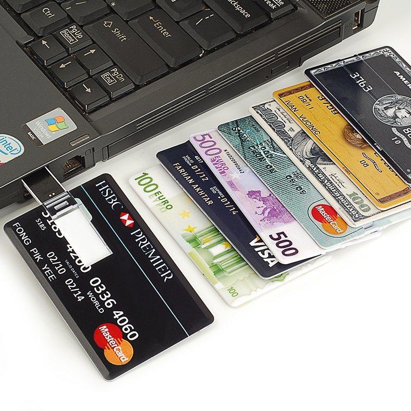 Credit Card USB Flash Drive 32g Pendrive High Speed 64G USB Stick 16g Pen Drive 8g Flash Drive Customized Logo USB in Stock
