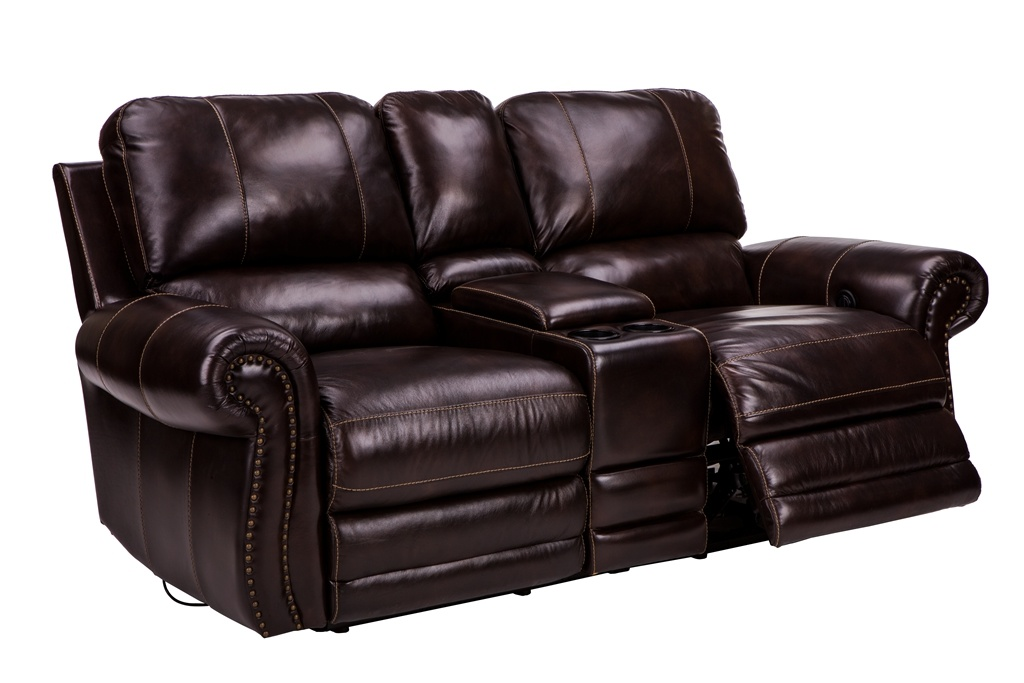 Home Furnishings Transitional Motion Cornersofa, Wipe off Leather Sofa