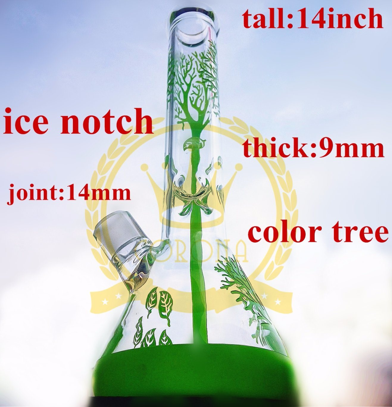 Tobacco Glass Smoking Water Pipe High Quality Recycler Tobacco Tall Color Bowl Glass Craft Ashtray Glass Pipes