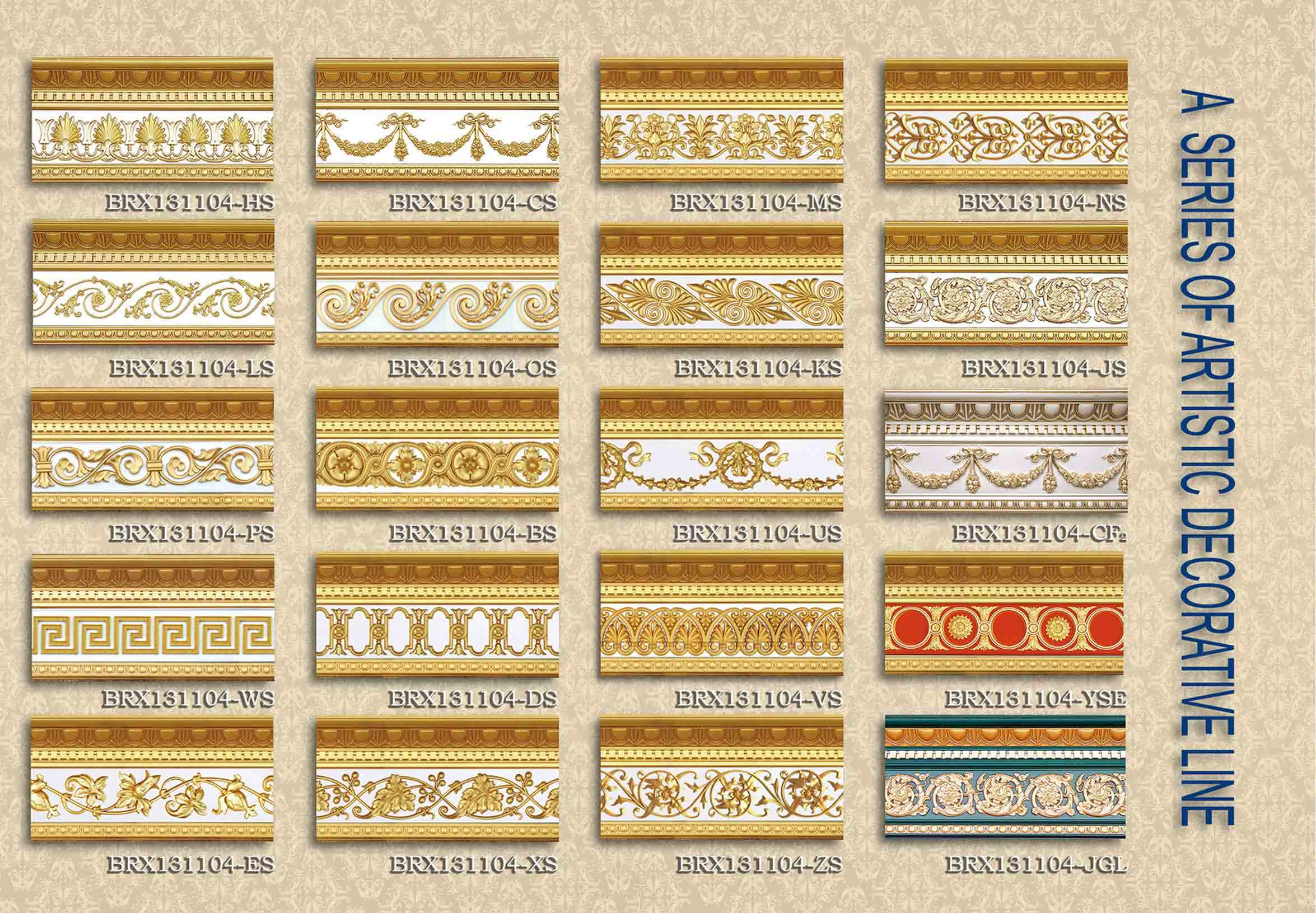 Exquisite Cornice for Luxurious Constraction (BRX131104-OS)