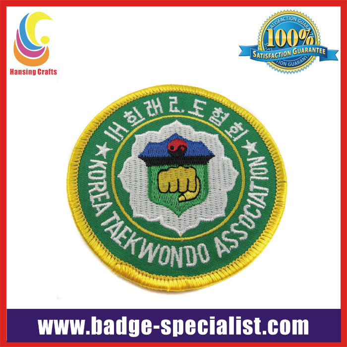 Supply High Quality Embroidery Patch/Embroidery Badge (HS-EP001)