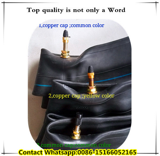 Longhua Factory Natural Rubber Butyl Rubber Tube for Motorcycle (4.00-8)