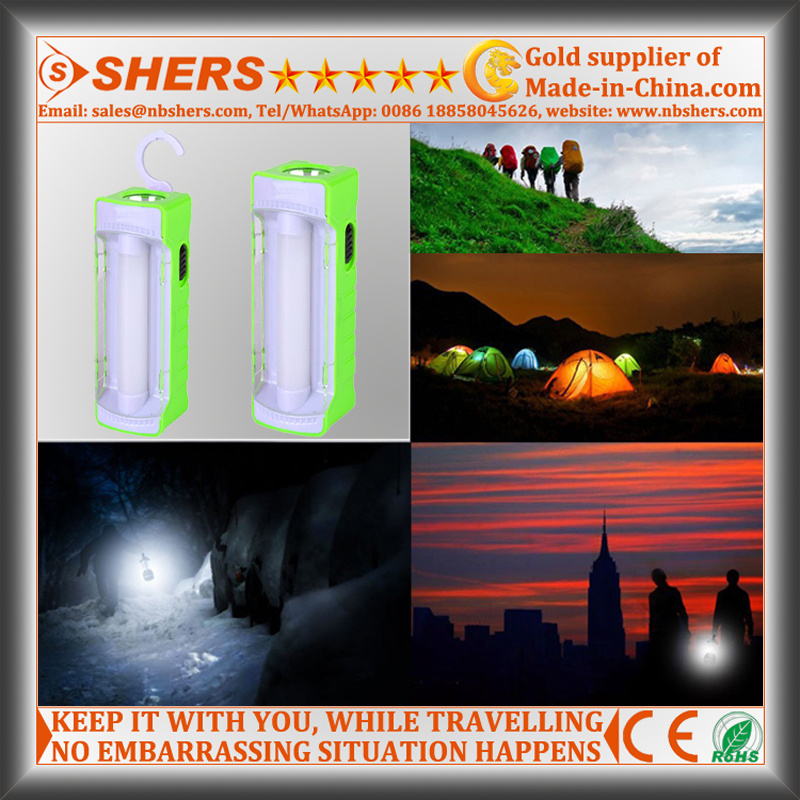 Rechargeable Solar LED Emergency Light with 1W Flashlight (SH-1901A)