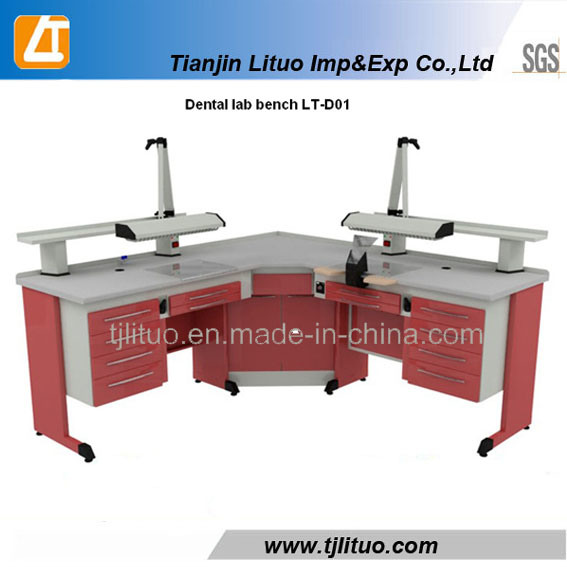 Blue Color Metal Sheet Structurer Dental Lab Tables