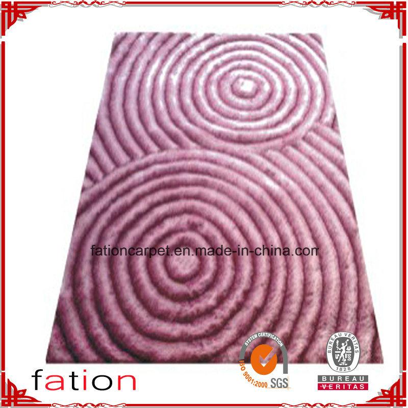 Anti-Slip Home Area Rug Polyester L 3D Shaggy Carpet/Rug