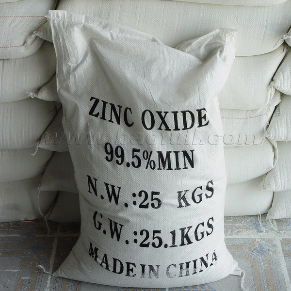 Purity 95% for Rubber Tyre Application of Zinc Oxide