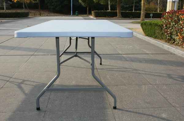 Hotsale Portable 6FT 72inch Renctangle Plastic Outdoor Camping Picnic Folding Tables (M-X1803)