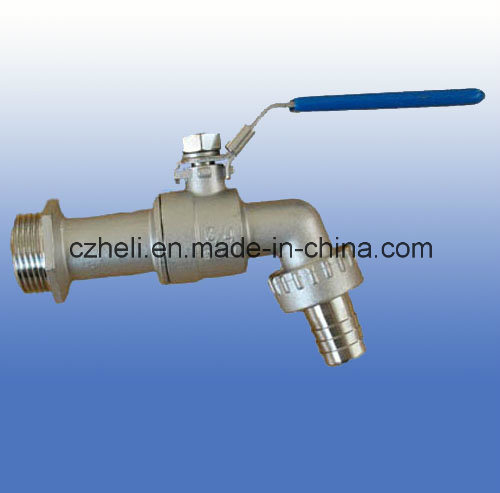 Hose Tap Ball Valve Ss316 300wo with Handle
