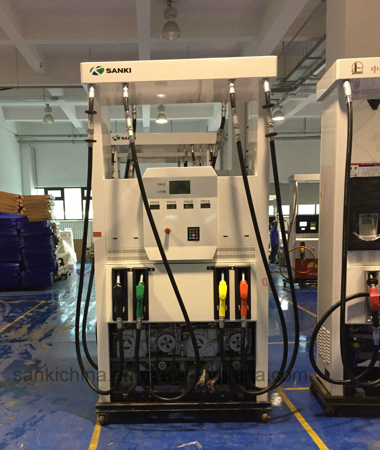 Sanki Fuel Dispenser Sk56 with 8 Nozzles Gas Station Equipment