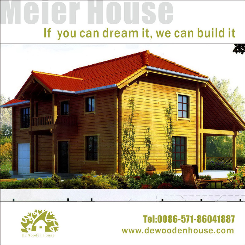 China 2015 Luxury Modular Wooden Log Houses Ready Made
