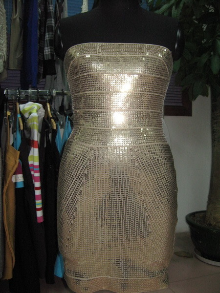 Bodycon Bridemaid Sequin Tube Gold Stamping Package Hip Dresses