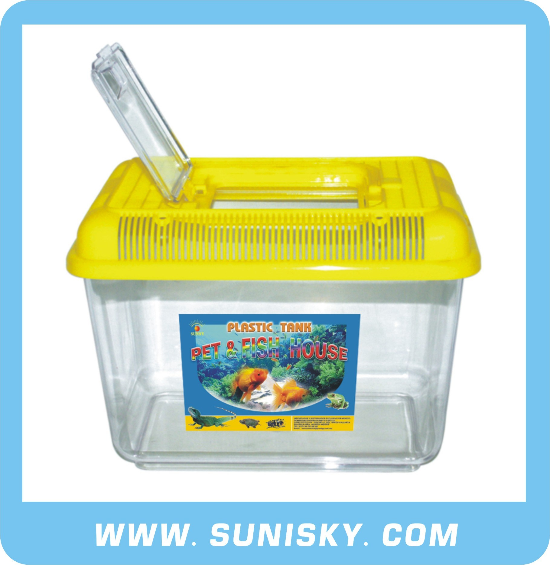 Plastic Aquatic Tank Yellow SPF-8802