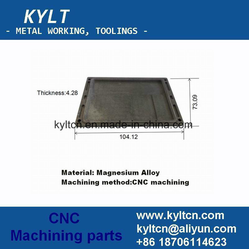Magnesium CNC Machining Part of Metal Box, Precision Machining Computer Screen Frame