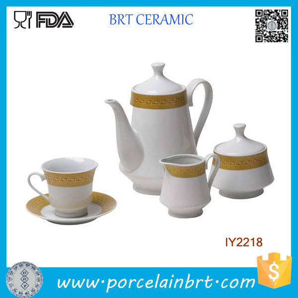 Golden Age English Porcelain Ceramic Tea Set