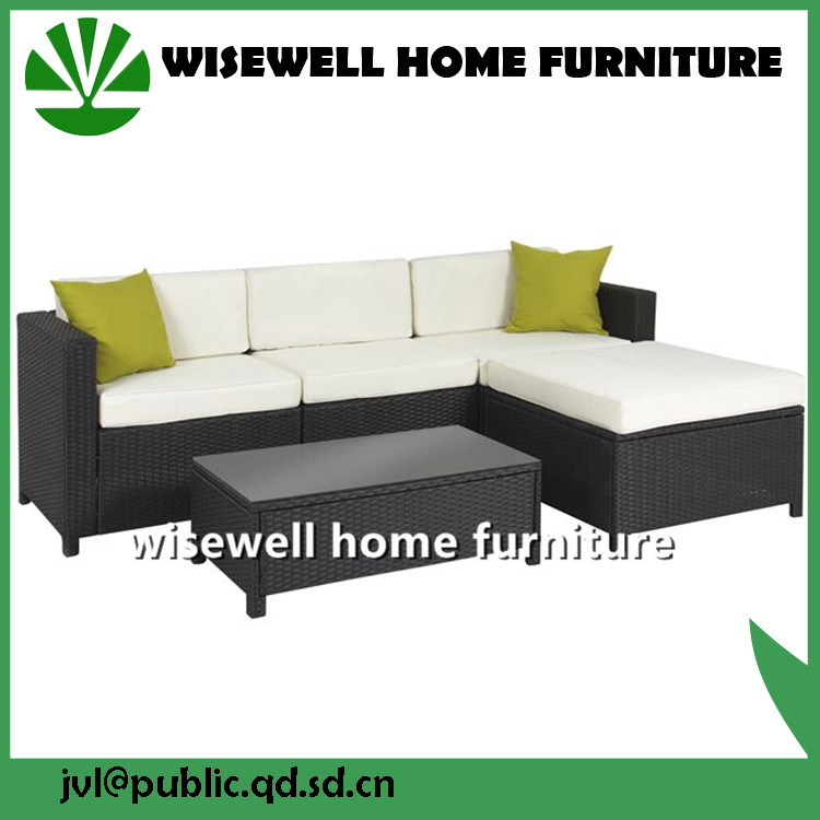 PE Wicker Rattan Outdoor Patio Sofa Set Sectional Furniture (WXH-023)