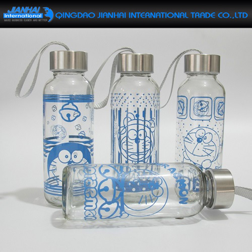 Regular Glass Sport Bottle for Water and Promotion