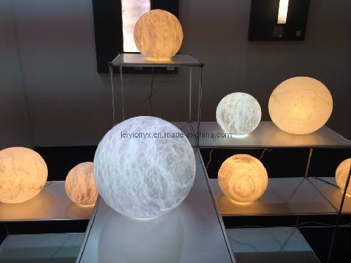 Onyx Crafts Ball Lamps Stone Carving