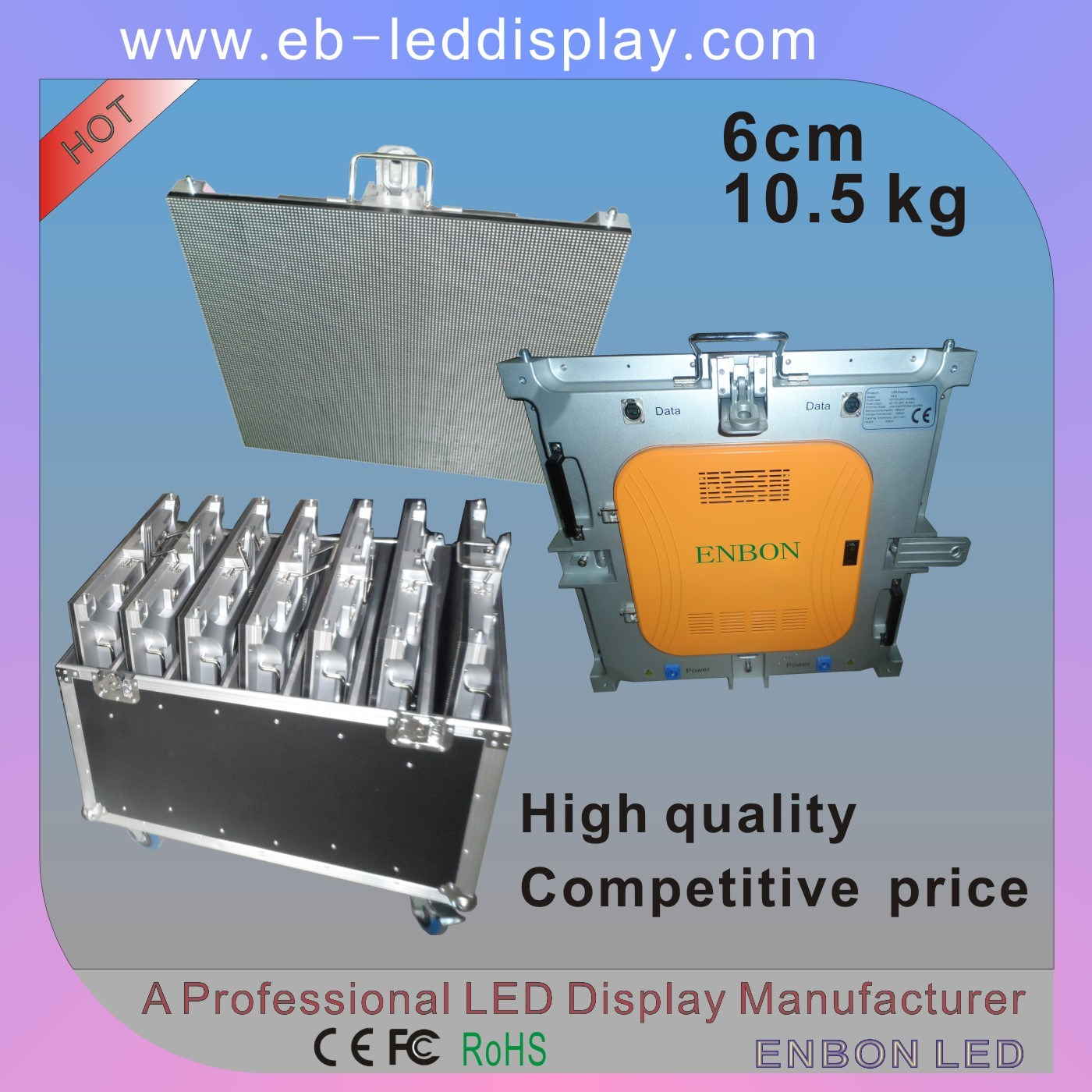 576X576mm P4.8 P6 Die-Casting LED Video Wall (SMD 3 in 1, Novastar system)