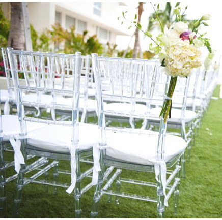 Resin and Wooden Chiavari Wedding Dining Chairs