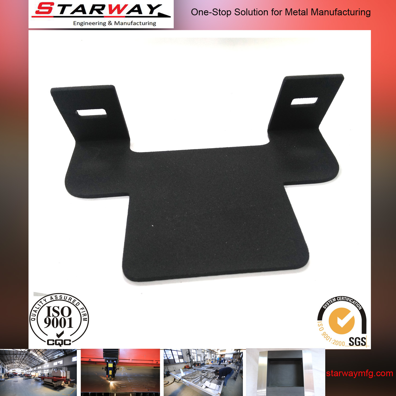 Custom Steel Black Coating Sheet Metal Fabrication