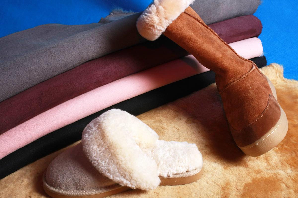 Australian Merino Double Face Sheepskin Fur Fabric for Footwear
