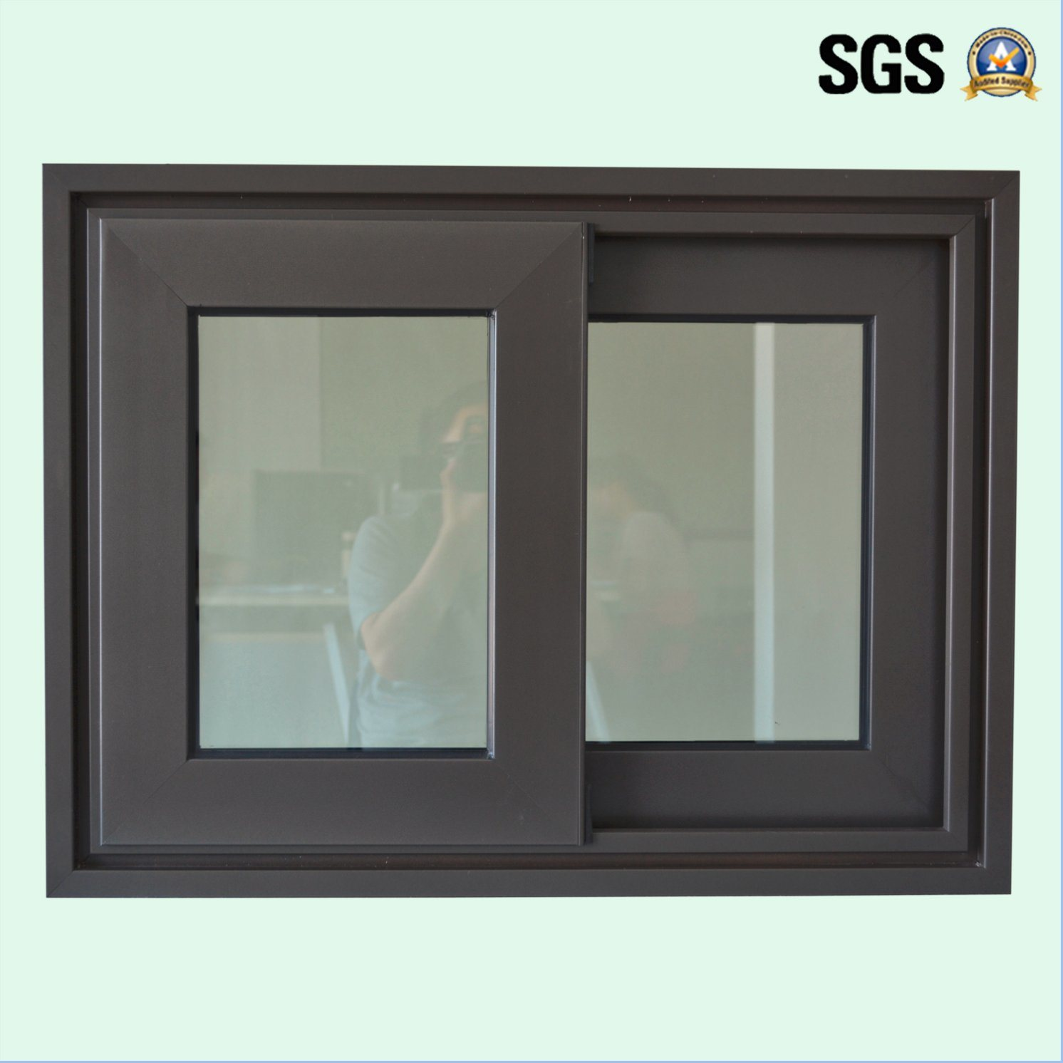 High Quality Double Glass Aluminum Sliding Window K01080